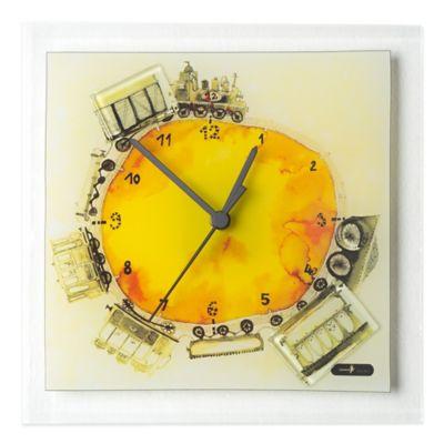 Veritas Handmade Train Glass Wall Clock
