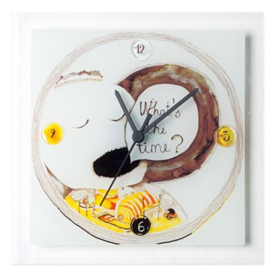 "Veritas Handmade ""What's the time?"" Glass Wall Clock"