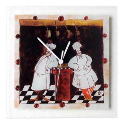 Veritas Handmade Chefs Glass Wall Clock