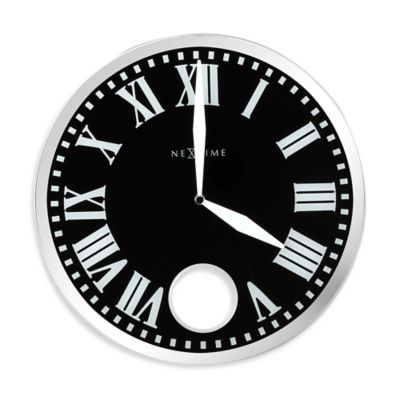 NeXtime Romana Pendulum Wall Clock in Black