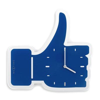 NeXtime Thumbs Up Wall Clock in Blue