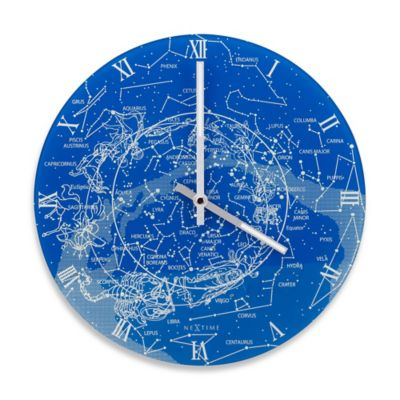 NeXtime Glow-In-The-Day Milky Way Clock in Blue