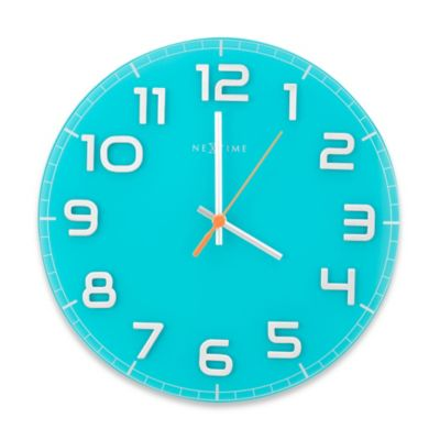 NeXtime Classy Wall Clock in Turquoise