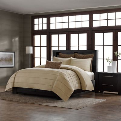 Metropolitan Home Wright Queen Comforter Set in Taupe