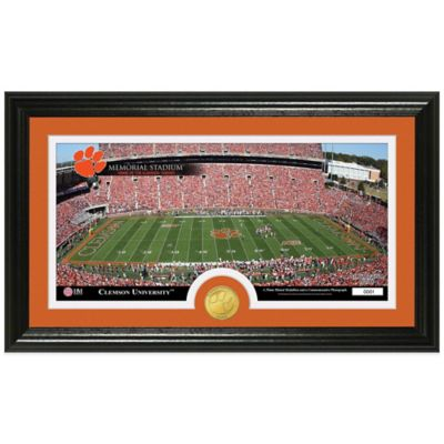 Clemson University Stadium Bronze Coin Panoramic Photo Mint