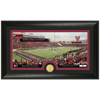 Texas Tech University Stadium Bronze Coin Panoramic Photo Mint