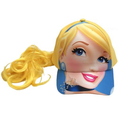 Cinderella Princess Baseball Cap with Faux Ponytail
