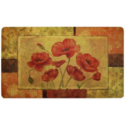 Fashion Comfort 18-Inch x 30-Inch Jacobian Poppy Kitchen Foam Mat