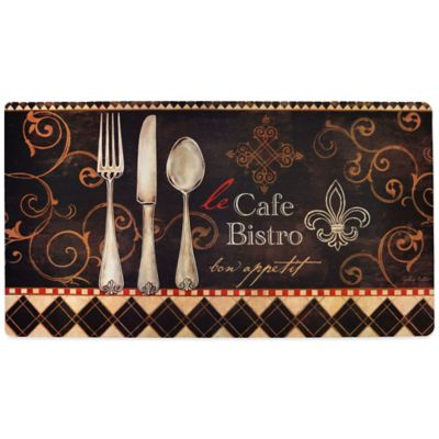 Soothing Chef 20-Inch x 36-Inch Le Café Bistro Anti-Fatigue Kitchen Mat