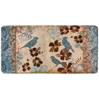 Relaxed Chef Blue Bird Kitchen Floor Mat