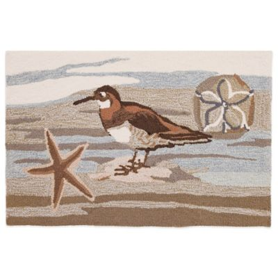 Homefires Coastal Collage 22-Inch x 34-Inch Accent Rug