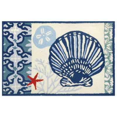 Homefires Italian Tile with Clam Shell 22-Inch x 34-Inch Accent Rug
