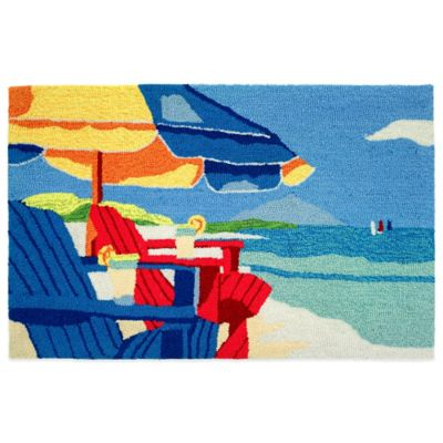 Homefires Oceanside Chairs 22-Inch x 34-Inch Accent Rug
