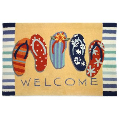 Homefires Welcome Sandals 22-Inch x 34-Inch Accent Rug