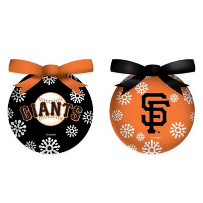 MLB San Francisco Giants LED Lighted Christmas Ornament Set (Set of 6)