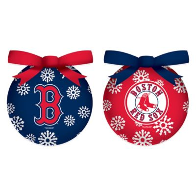 MLB Boston Red Sox LED Lighted Christmas Ornament Set (Set of 6)