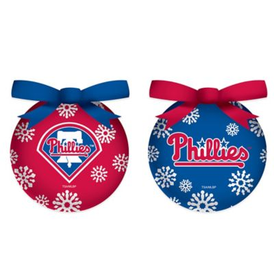 MLB Philadelphia Phillies LED Lighted Christmas Ornament Set (Set of 6)