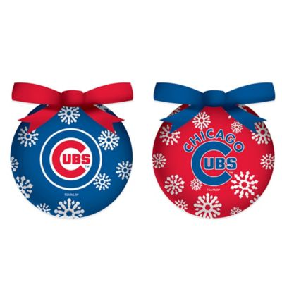 MLB Chicago Cubs LED Lighted Christmas Ornament Set (Set of 6)
