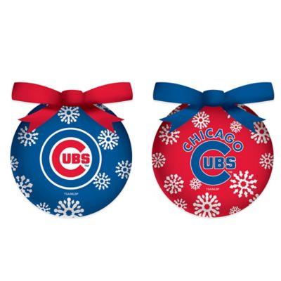MLB Chicago Cubs LED Lighted Christmas Ornament Set (Set of 6)