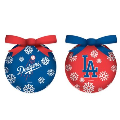 MLB Los Angeles Dodgers LED Lighted Christmas Ornament Set (Set of 6)