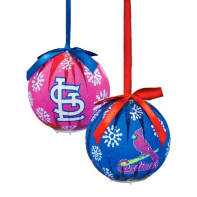 MLB St. Louis Cardinals LED Lighted Christmas Ornament Set (Set of 6)