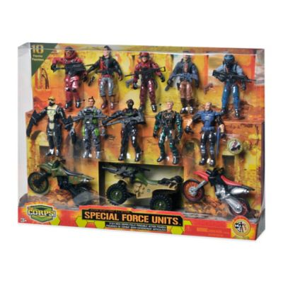 The Corps Special Force Unit 10-Piece Action Figure Playset with Vehicles