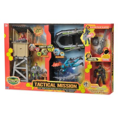 The Corps Tactical Mission Playset with Boat