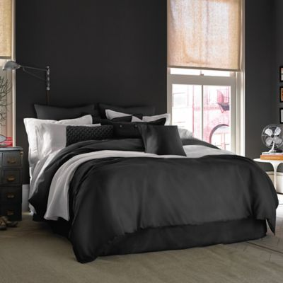 Kenneth Cole Reaction Home Mineral Full/Queen Duvet Cover in Dusty Black