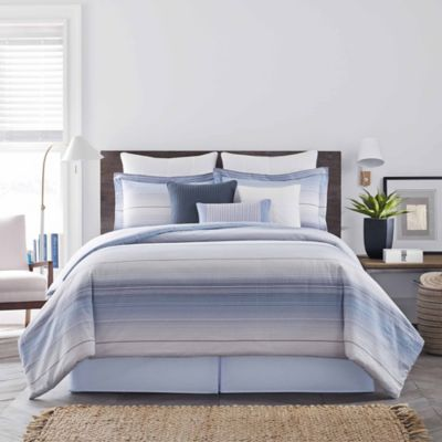 Real Simple® Parker Twin Duvet Cover Set in Blue