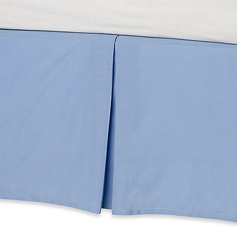 real simple 174 bed skirt in blue bed bath beyond
