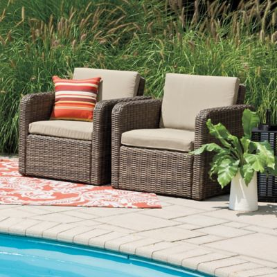 Mason Wicker 2-Piece Chair Set