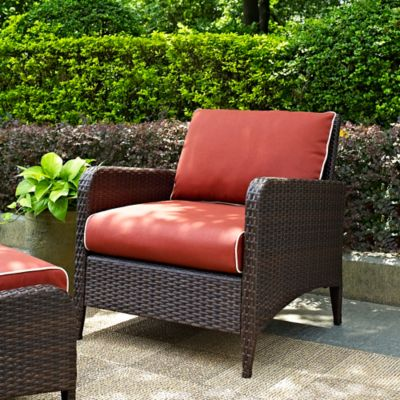 Crosley Kiawah Wicker Arm Chair