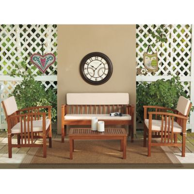 4-Piece Wood Deep Seating Chat Set