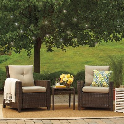 Barrington 3-Piece Wicker Club Chair Set in Sand