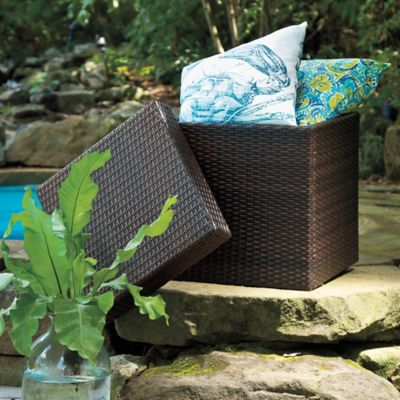 Barrington Wicker Storage Ottoman