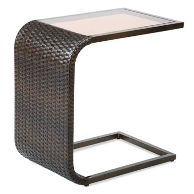 Barrington Wicker C-Shaped Accent Table