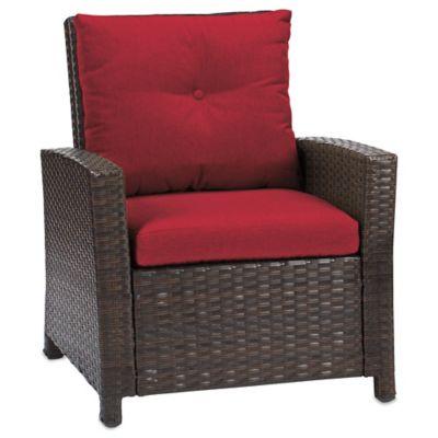 Barrington Wicker Club Chair in Red