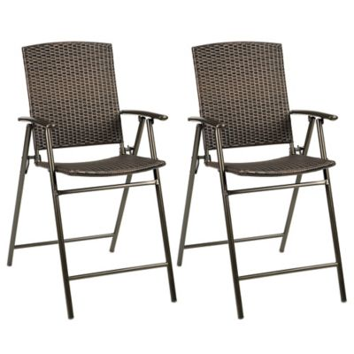 Stratford Wicker Folding Balcony Chair (Set of 2)