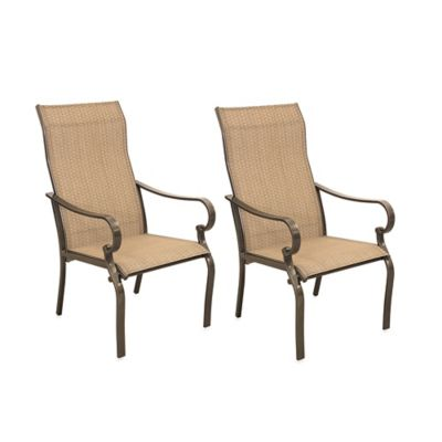 Hawthorne Oversized Sling Chairs in Tan (Set of 2)