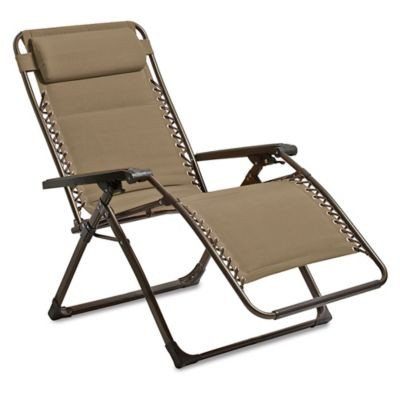 Deluxe Oversized Padded Adjustable Zero Gravity Chair in Tan