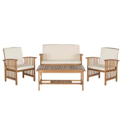 Safavieh Outer Banks 4-Piece Conversation Set in Beige