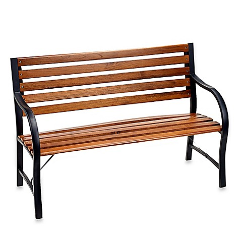 Wood and Metal Garden Bench Bed Bath Beyond