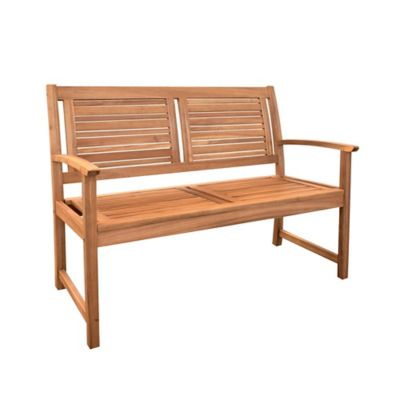 Wood 2-Seater Bench