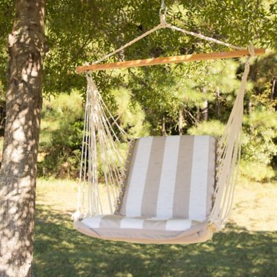 Pawleys Island Cushioned Hammock Swing in Taupe