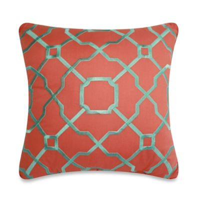 Dena™ Home Dakota Reversible Square Throw Pillow in Coral
