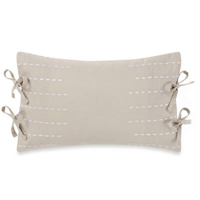 Real Simple® Boden Tie Oblong Throw Pillow in White