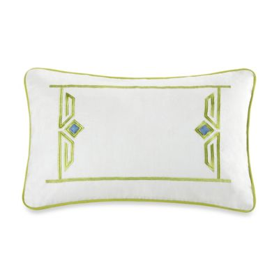 Echo Design™ Sardinia Embroidered Oblong Throw Pillow in White
