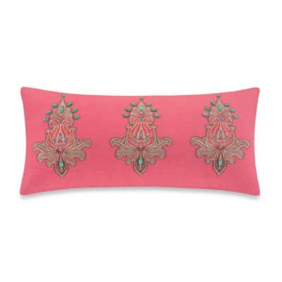 Echo Design Guinevere Oblong Throw Pillow in Coral - Bed Bath & Beyond