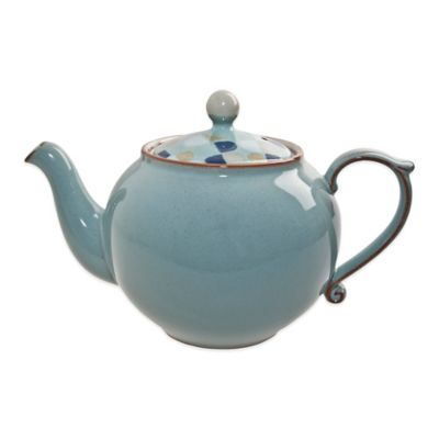 Dishwasher Safe Blue Teapot