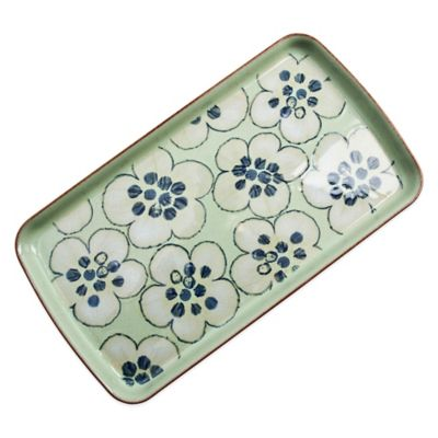 Denby Heritage Orchard Rectangular Accent Platter in Green